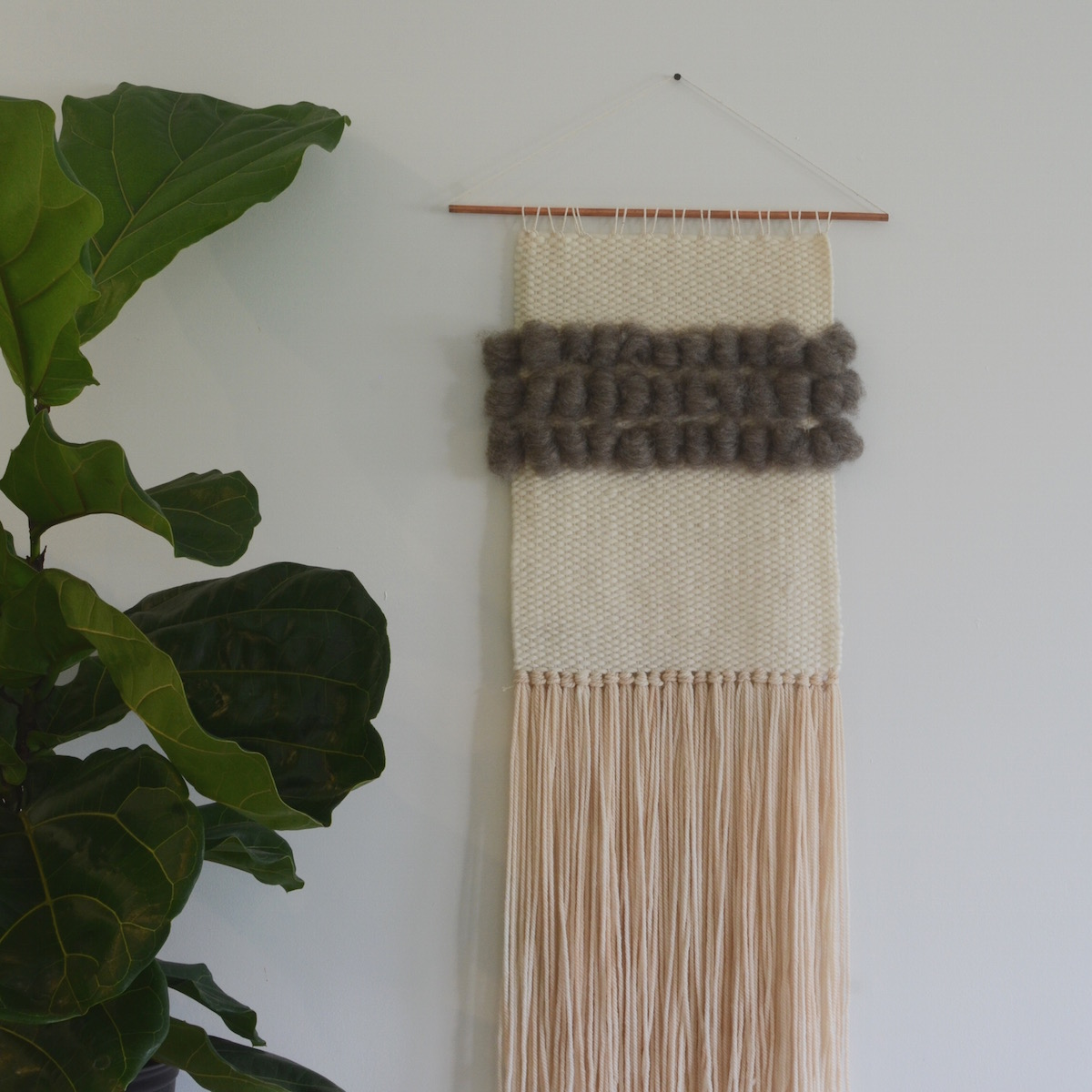 Handmade wall weaving